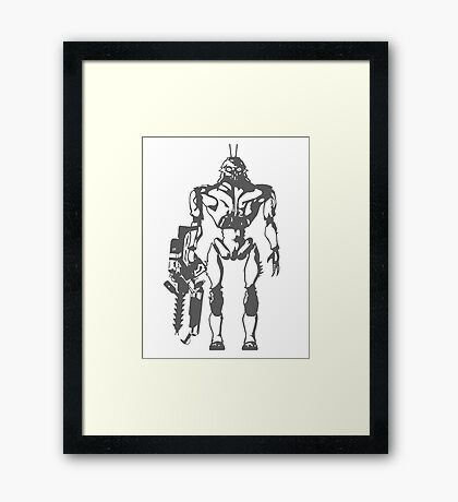 Prawn Soldier Framed Print