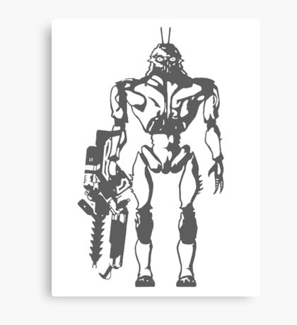 Prawn Soldier Canvas Print