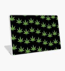 lit 420 leaf pattern  Laptop Skin