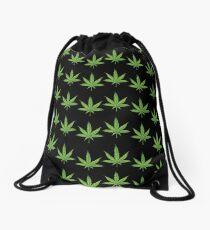 lit 420 leaf pattern  Drawstring Bag