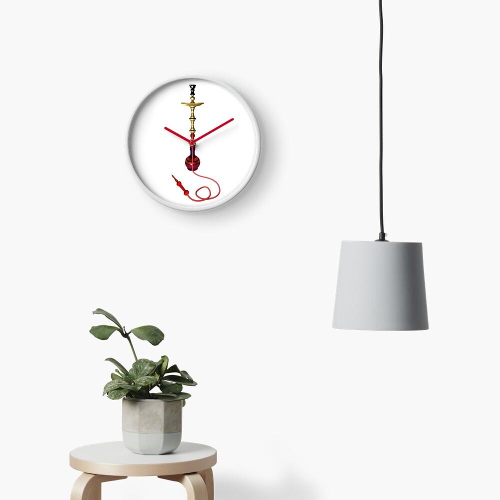 Hookah 3D render - side view Clock