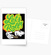 Lets Roll Postcards