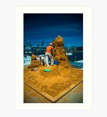 Sand sculptures  Art Print