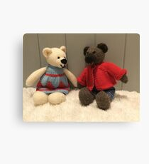 Knitted bears Canvas Print