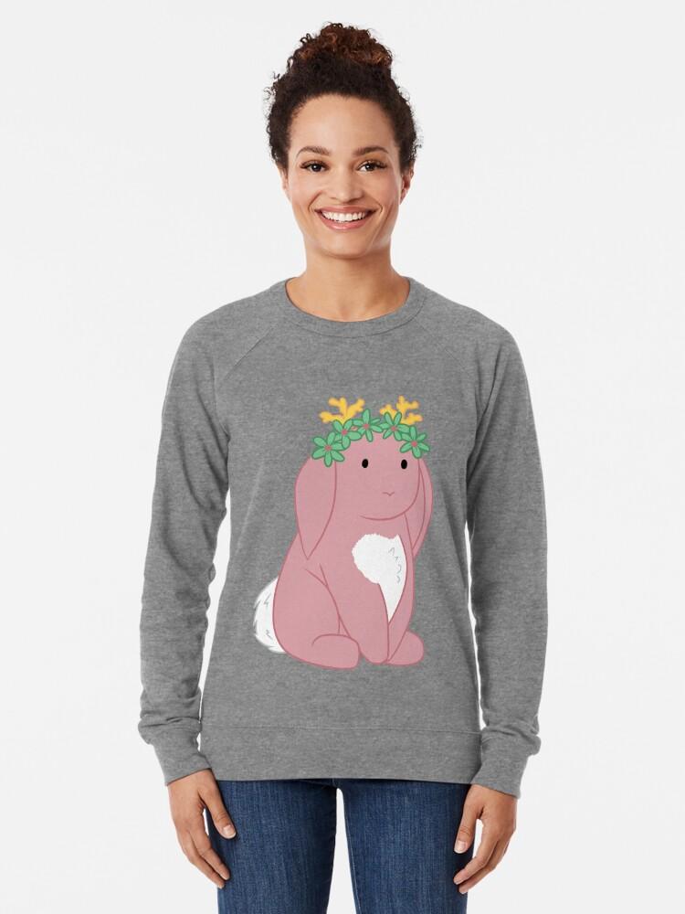 Alternate view of Pink Spring Festival Jackalope Lightweight Sweatshirt