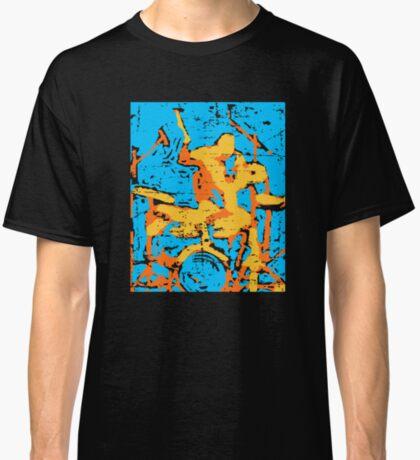 Modern Art Style Drummer Digital Painting Classic T-Shirt