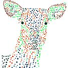 Reh - Deer (gepunktet/pointed) Version 1 von Doris Thomas