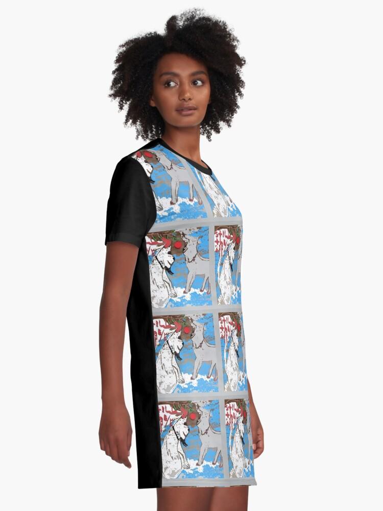 Vista alternativa de Vestido camiseta FANNIE