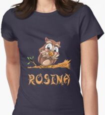 Rosina Owl Women's Fitted T-Shirt