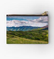 beautiful mountainous countryside in springtime Studio Pouch