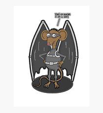 Yes, I am a bat ! Photographic Print