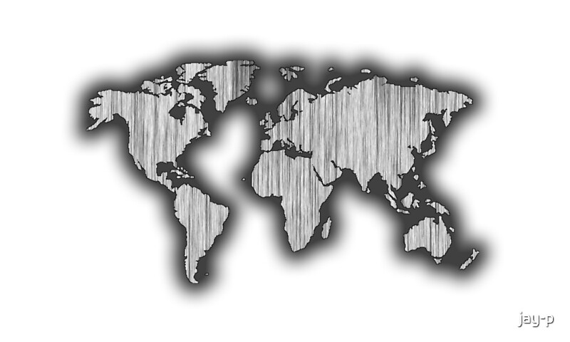 Grayscale world map art prints by jay p redbubble grayscale world map by jay p gumiabroncs Gallery