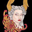 «Chica cuernos, crisantemo» de Galbrin