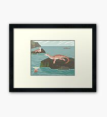 Atopodentatus by the Sea Framed Print