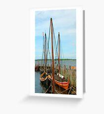 Viking Ships, Roskilde, Denmark Greeting Card