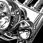 Headlight On A Harley by Noble Upchurch