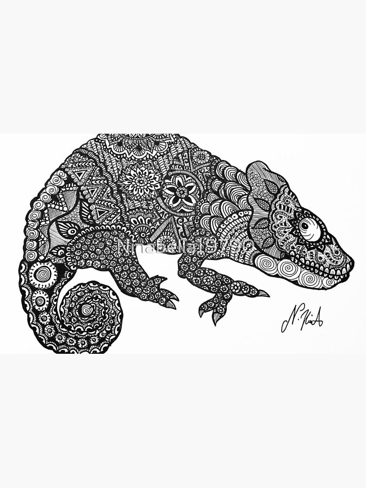 """mandala-look chameleon"" mugninabella19790 | redbubble"