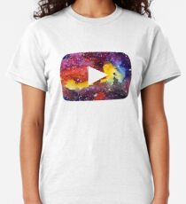 YouTube Play Button Space Classic T-Shirt