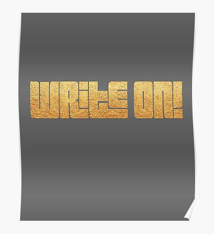 WriteOn! Metallic Gold Poster