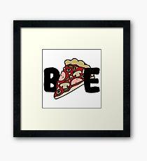 Pizza Bae Framed Print