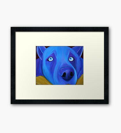 I feel so blue Framed Print