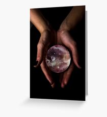 Crystal Ball Starscape Greeting Card