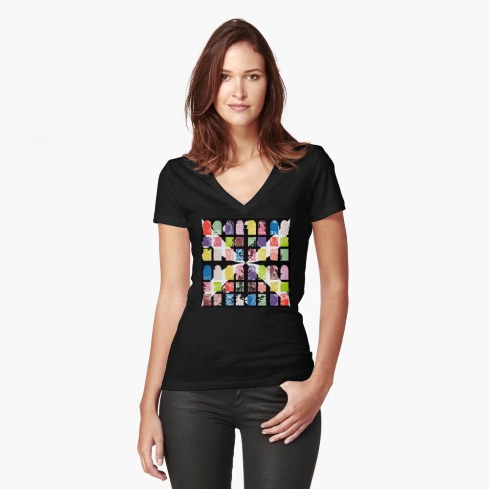 peekaboo Women's Fitted V-Neck T-Shirt Front