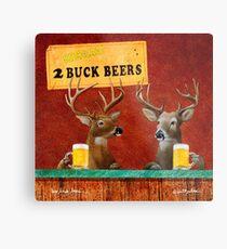 Will Bullas / art print / two buck beers / humor / animals / deer Metal Print