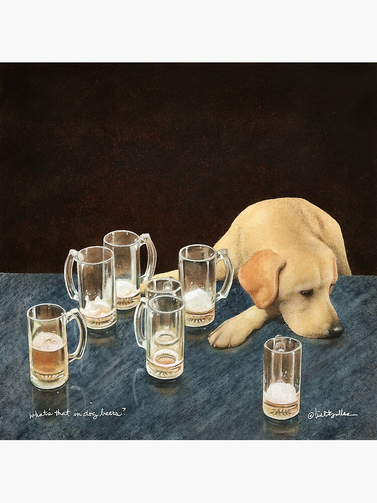 Will Bullas / art print / whats that in dog beers? / humor / animals / dog / lab by willbullas