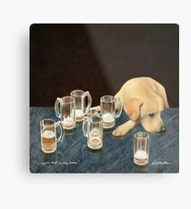 Will Bullas / art print / whats that in dog beers? / humor / animals / dog / lab Metal Print
