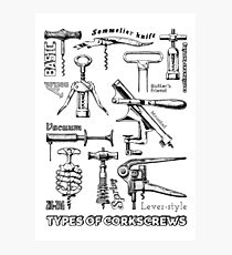 Types of corkscrews Photographic Print