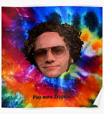 Play More Zeppelin - Tie Dye Poster