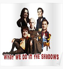What We do In The Shadows Big heads Poster