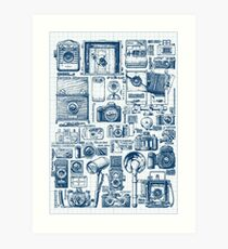 Types of photo cameras Art Print