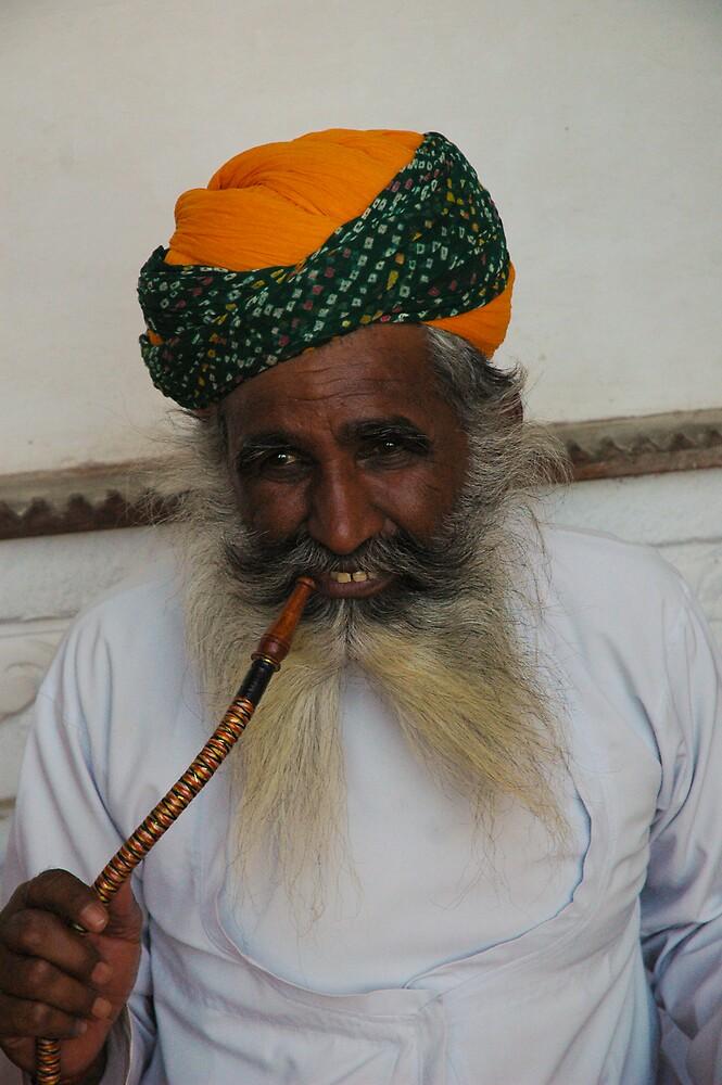 India, opiam smoker by Rowan Herring