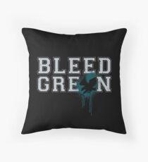 Bleed Green Philadelphia Eagles Football Fly Eagles Fly Tee Throw Pillow