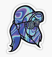 Blue Rezz Head Sticker