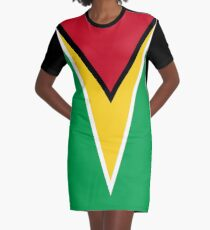 Guyana-Nationalflagge T-Shirt Kleid