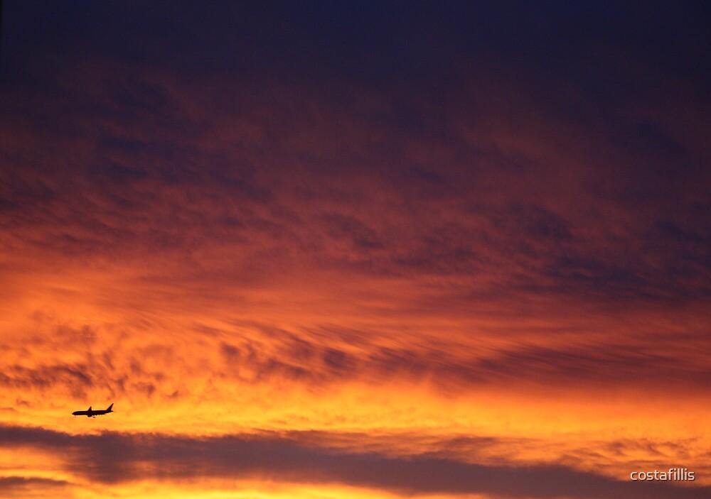 Sunset Plane 2 by costafillis