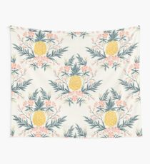 Pineapple and Flowers Wall Tapestry