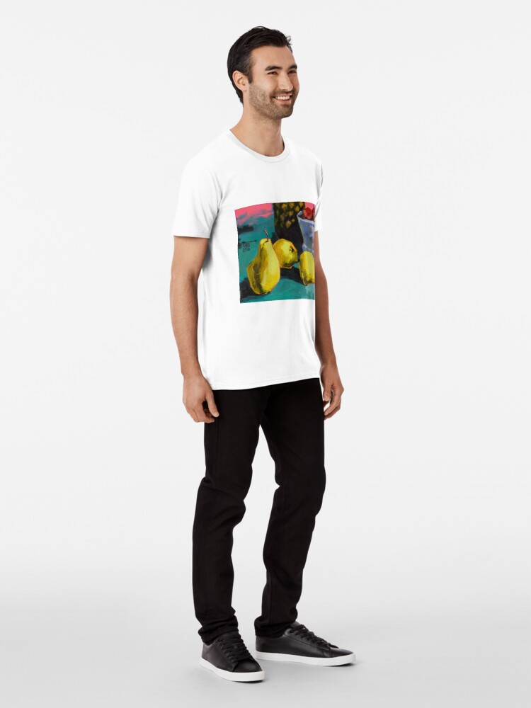 Alternate view of Still life with pears and pineapple Premium T-Shirt