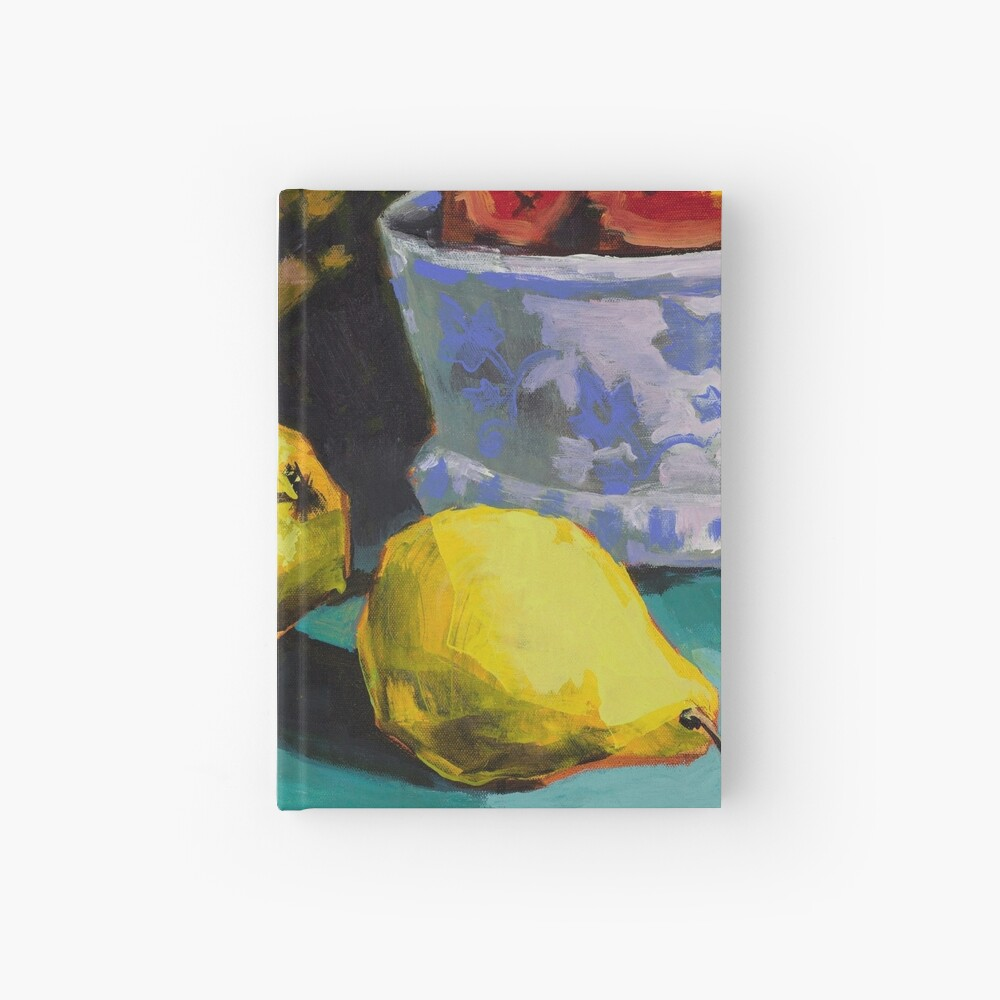 Still life with pears and pineapple Hardcover Journal
