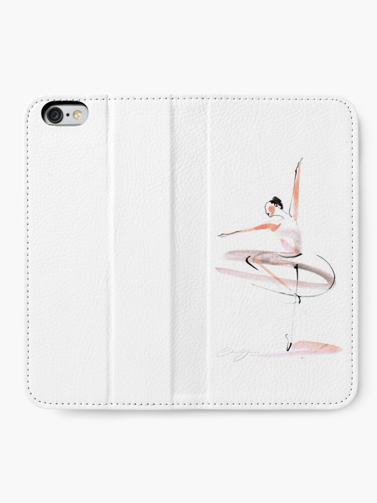 Alternate view of Ballet Dance Drawing iPhone Wallet