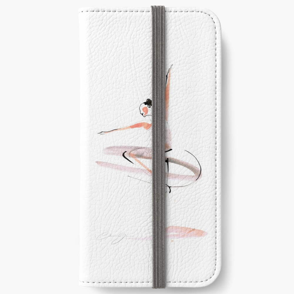 Ballet Dance Drawing iPhone Wallet