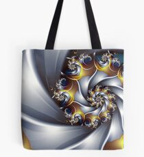 Gold and Silver Spiral Tote Bag