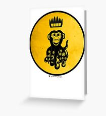 King Octochimp Says Hi Greeting Card