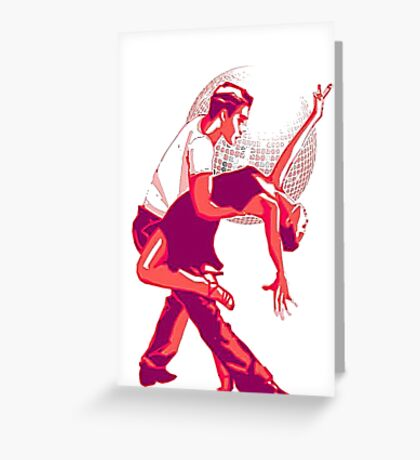 Strictly Salsa Couple Dancing With Glitter Ball Greeting Card