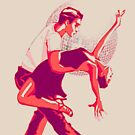 Strictly Salsa Couple Dancing With Glitter Ball by taiche