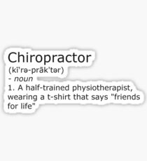 Chiropractor - definition Sticker