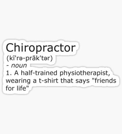 Chiropractor - definition Sticker
